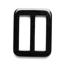 Slide Buckle: 25mm: Black