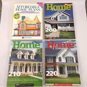 Vtg Late 90s Home Designs And Late 80s Affordable Home Plans Books Lot Of 4