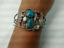 sterling silver turquoise cuff bracelet Nice Native American Jeffererson James