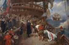 Sea Burial of Sir Francis Drake by Davidson British Empire Navy 7x5 Inch Print