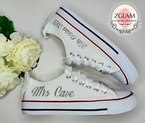 Personalised Converse Style Wedding Shoes Trainers Pumps