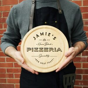 Personalised Pizza Serving Board Home Baked Pizzeria Chopping Board Birthday