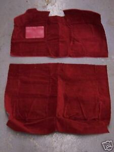FORD COUNTRY SQUIRE, MERCURY COLONY PARK 88-91 4 DR SEDAN RED NYLON LOOP CARPET