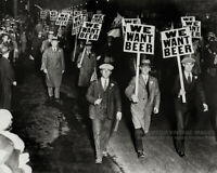 Vintage 1932 Photo 'We Want Beer' New York City Anti-Prohibition Parade Wall Art