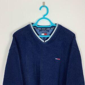 Vintage Tommy Hilfiger Navy Crew Neck Pullover Fleece