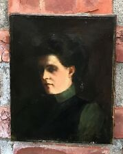 19th Century European School O/C Portrait Of Woman Manner Of Jean Jacques Henner