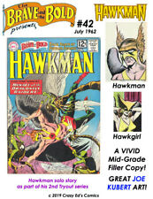 BRAVE and the BOLD # 42 VIVID FN Range HAWKMAN by JOE KUBERT! LOW A$K MAKE OFFER