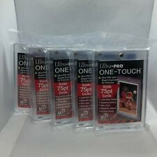 (5)Ultra Pro Gold 75 Point Ultra Clear Plastic One-Touch Magnetic UV Protection