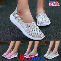 Breathable Women's Hand-woven Shoes Fashion Casual Running Sneakers Trainer US