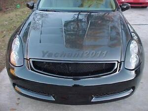 Carbon Fiber Grill Fit For 03-07 Infiniti G35 2D Coupe Front Grille