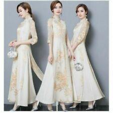 Chiffon 3/4 Sleeve Casual Maxi Dresses for Women
