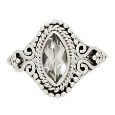Crystal 925 Sterling Silver Ring Jewelry s.6 CRYR1390
