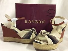 Bamboo Women's LEXI-45 Wedge Sandals, Multicolor, Size 10 M