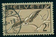 SWITZERLAND #C15 2fr Airmail, high value in set, used, VF, Scott $85.00