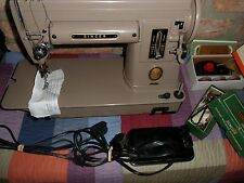VINTAGE SINGER SEWING MACHINE MODEL 301 WITH Auto Zigzagger, PEDAL WORKING ORDER