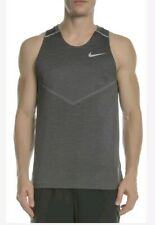 Nike Men's Tech Knit Cool Running Vest Top Grey   Size Large  Aj7589 010