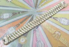 UNUSUAL 1950s Foster FANCY Engraved Ladies 10K YGF Wristwatch Bracelet L@@K! N/R
