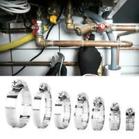 80pcs Assorted Stainless Steel Hose Clamp Kit With No Driver Jubilee Clip Set UK