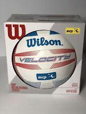 Wilson Velocity Beach Volleyball AVP Recreational Series Red White & Blue Design