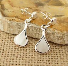 Mother of Pearl MOP 925 Sterling Silver Drop Earrings Jewellery