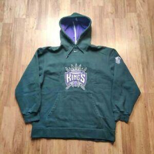 Nike Center Check Sweater Adult Large Black Sacramento Kings NBA Basketball