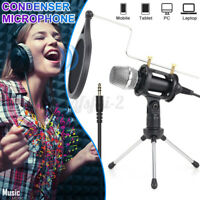 Kondensator Microphone Für Studio Podcast Handy PC Mikrofon Kit mit Trip