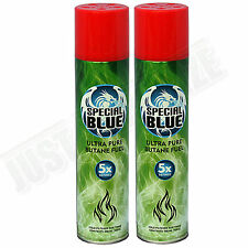 2x Special Blue 5x Refined Butane Gas Extra Purified Fuel Torch Lighter Refill