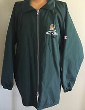 RARE NFL GREEN BAY PACKERS COAT WITH HOOD Sz XL  MADE BY CHAMPION EXCELLENT