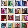 Mermaid Pillow Reversible Sequin Glitter Sofa Waist Throw Cushion Pillow Cover