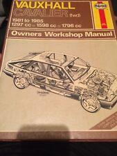 HAYNES MANUAL 812 .VAUXHALL CAVALIER FWD. 1981 TO 1985.1297 cc 1598 cc 1796 cc.