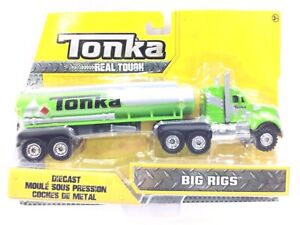Tonka Real Tough Diecast Big Rigs Collectible Toy Age 3+ Green Truck By Hasbro