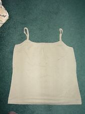 Khaki Cotton Camisole / Strappy Top from George @ ASDA Size 14 BNWOT (003)