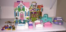 Fisher Price Sweet Streets City Cottage, Movie Theater & Truck / Horse Trailer
