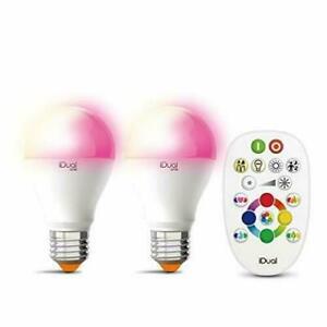 iDual One 2er Pack E27 LED 12W Leuchtmittel mit iDual Fernbedienung O4-43