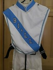 Vtg Marching Blue & White Band Tail Overlay Uniform 20 Costumes Theatre