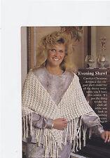 Crochet Pattern ~ LADIES EVENING SHAWL ~ Instructions