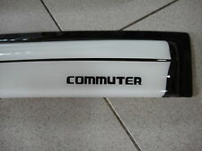 WHITE VISOR WEATHER GUARDS COVER TRIM FOR VAN TOYOTA HIACE COMMUTER 2008-2013 V2