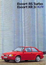 Ford Escort Mk3 XR3i  & RS Turbo Italian market 1988 sales brochure