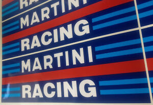 MARTINI RACING DECALS x2 (Sizes: 320mm, 485mm or 983mm wide)