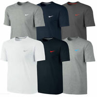 Nike Mens T Shirt Gym Cotton Sports Crew Neck Jogging Casual Tee