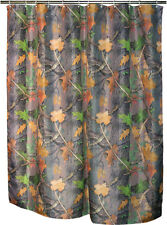 """Camouflage Shower Curtain Fall Transition New Polyester 70"""" x 72"""" Camo Leaves"""