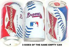 2012 ATLANTA BRAVES MLB PRO TOMAHAWK BEER CAN BASEBALL BUDWEISER BUD SPORTS BALL