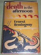 DEATH IN THE AFTERNOON Hemingway UK FE Sixth Prtg DJ Jonathan Cape First Edition