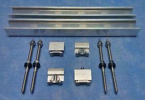 Stockschrauben Montagesystem FLEX Schwarz Photovoltaik Solar -6 Module 28-52mm