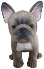 "Faithful Friends French Bulldog Grey/Blue 12"" Soft Toy Dog"