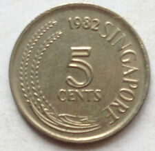 Singapore 1st Series 5 cents 1982 coin