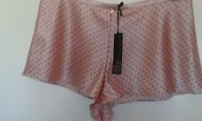 ROSIE FOR AUTOGRAPH 14 LUXURIOUS SILK FRENCH KNICKERS IN ROSE COLOUR,SMALL PATT.