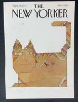 COVER ONLY ~ The New Yorker Magazine, September 24, 1979 ~ Saul Steinberg