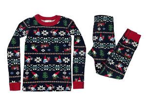 Hanna Andersson Size 120 US 6-7 Elf Gnome Christmas Pajamas Organic Cotton