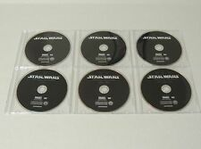 STAR WARS EPISODES I, II, III, IV, V, VI DVD NEVER PLAYED - DISCS ONLY READ